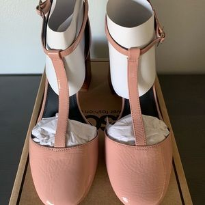 ASOS blush patent heels! Brand new! NEVER WORN!